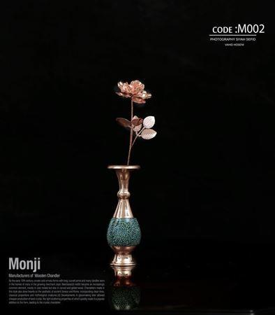 تصویر شاخه گل مصنوعی مسی