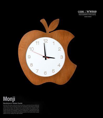 تصویر ساعت دیواری طرح اپل
