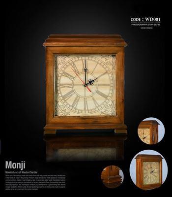 تصویر ساعت رومیزی مربع WD001
