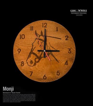 تصویر ساعت دیواری طرح اسب ww011