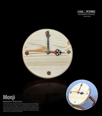 تصویر ساعت رومیزی گرد پایه دار WD002