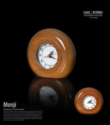 تصویر ساعت رومیزی گرد خراطی WD003