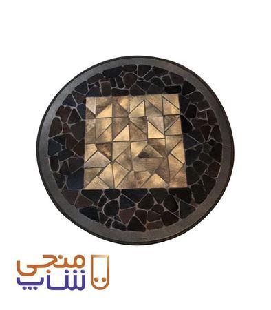 تصویر فرش تزیینی پوستی دایره ای ta026