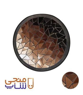 تصویر فرش تزیینی پوستی دایره ای ta029